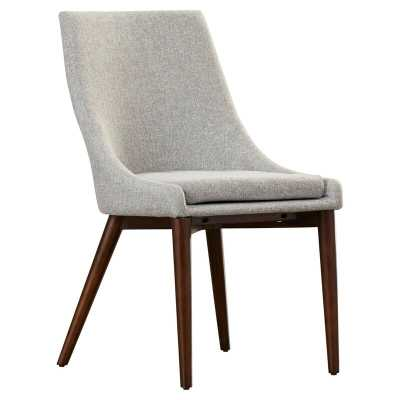 Aaliyah Cotton Upholstered Side Chair in Gray (set of 2) - Wayfair