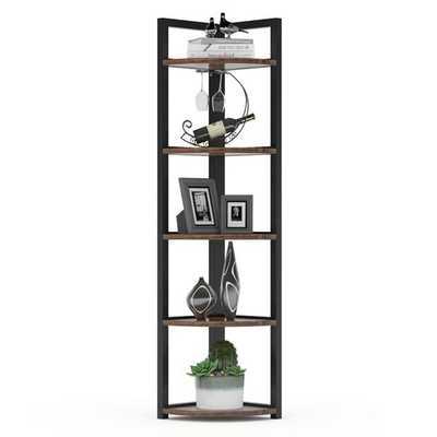 Summerall 5 Tier Corner Bookcase - Wayfair