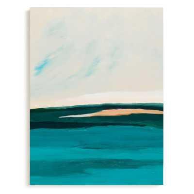 hawaiian reef abstract painting, framed art print - Minted