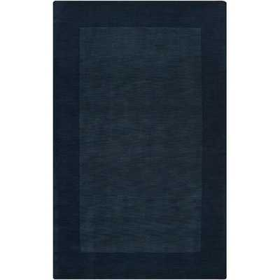 Bradley Handwoven Flatweave Wool Navy Area Rug - Birch Lane
