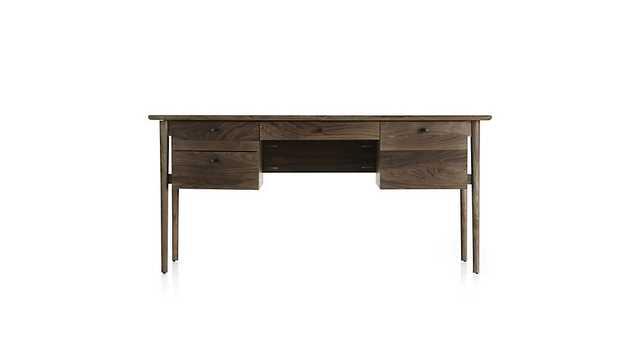 Kendall Walnut Desk - Crate and Barrel