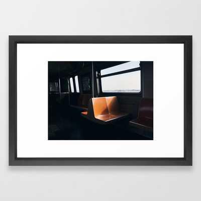 On my way / New York City subway Framed Art Print - Society6