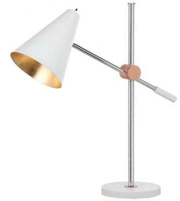 Alexus Table Lamp - Chrome/White - Arlo Home - Arlo Home