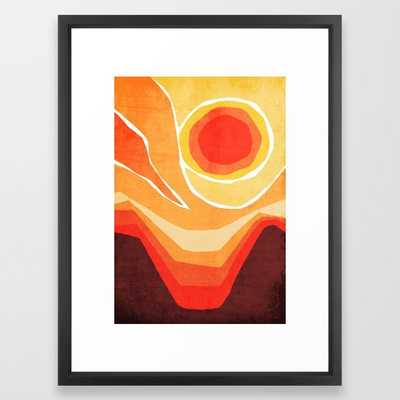 Modern Mid-Century Desert Sunset - Vector black - Society6