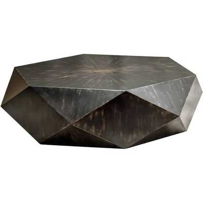 Uttermost Volker 49'' Wide Hexagon Coffee Table - Luxe Decor