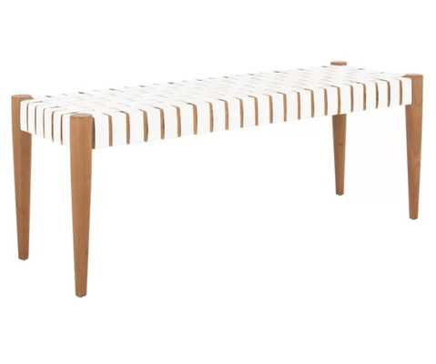 Soleil Genuine Leather Bench - AllModern