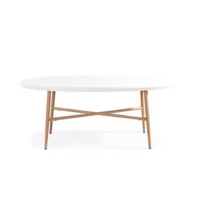 Umstead Oval Engineered Wood Coffee Table - Wayfair