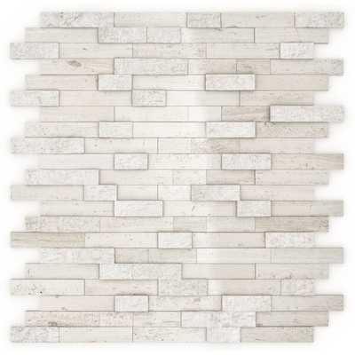 "Split 12"" x 12"" Natural Stone Peel & Stick Mosaic Tile (price is per sq. ft) - Wayfair"