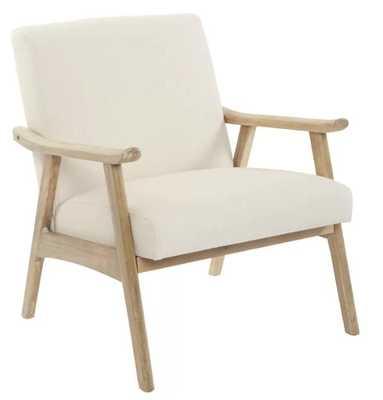 Delasandro Lounge Chair in Linen - Wayfair