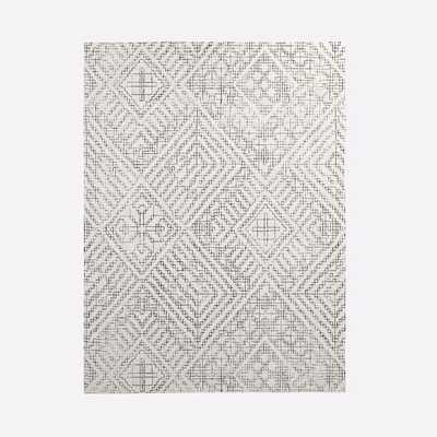 Stone Tile Rug, Slate, 9'x12' - West Elm