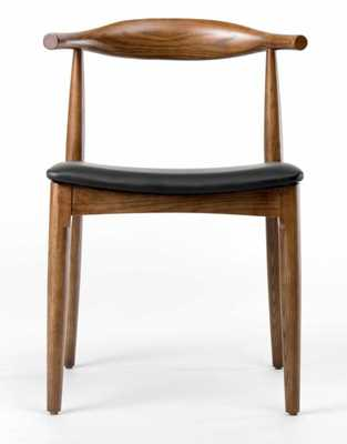 Elbow Chair, Walnut, Palermo Olive Waxy Leather - Rove Concepts