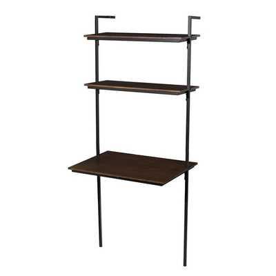 Arcade Leaning/Ladder Desk_Black - Wayfair