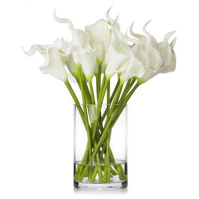 Lilies Flower Arrangement in Vase - Wayfair