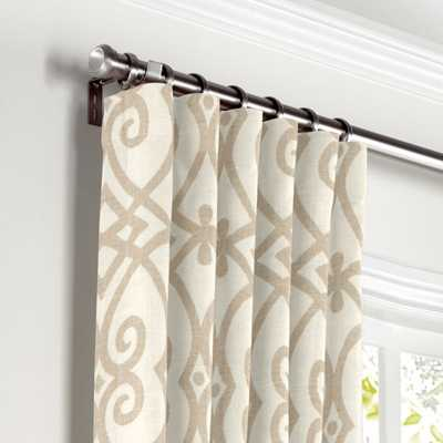 Convertible Drapery  Scrolling Along - Pebble - 100'' x 96'' H - Loom Decor