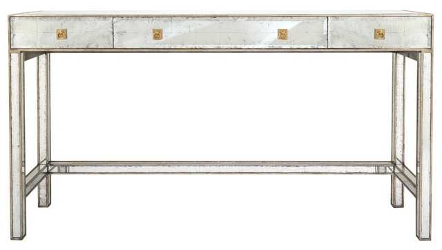 Madolyn Eglomise Console - Silver Leaf - Arlo Home - Arlo Home