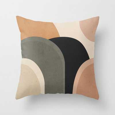 abstract minimal sunrise Throw Pillow - Society6