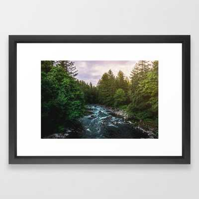 PNW River Run II - Pacific Northwest Nature Photography Framed Art Print by Cascadia - Society6