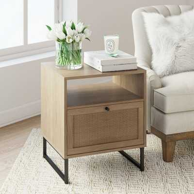Hugette Sled End Table with Storage - Wayfair