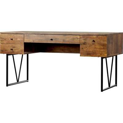 Brown/Black Fallon Reversible Desk - Wayfair