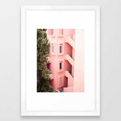 Muralla Roja photography print | abstract travel art | escher like building architecture photo Framed Art Print - Society6