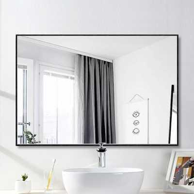 Eline Rectangular Thin Modern and Contemporary Bathroom Mirror - Wayfair