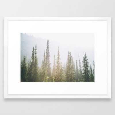 "Forest XXVII Framed Art Print - 20"" X 26""- Vector white - Society6"