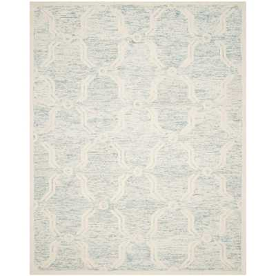 Cambridge Light Blue/Ivory 8 ft. x 10 ft. Area Rug - Home Depot