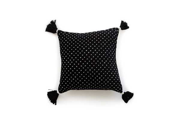 P0663 White / Black Pillow Cover - Poly-Filled - Justina Blakeney x Loloi Rugs