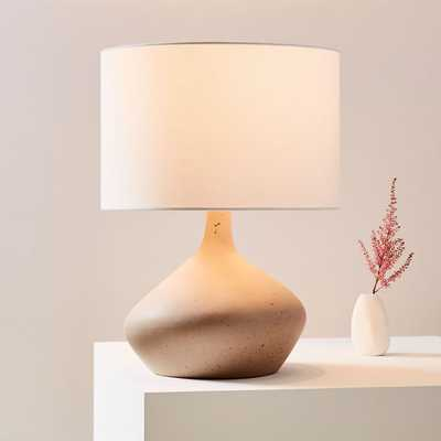 Asymmetry Ceramic Table Lamp, Small, Speckled Stone - West Elm