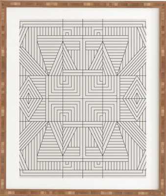 """LINE MANDALA Framed Wall Art // 15"""" x 17.5"""" framed with white border - Wander Print Co."""