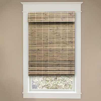 Cut-to-Size Driftwood Cordless Light-Filtering UV Protection Bamboo Shades 30 in. W x 72 in. L - Home Depot