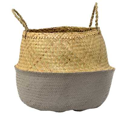 Seagrass Basket with Handles, gray - Wayfair