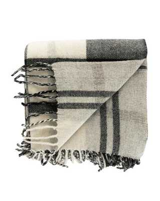 Woven Wool Plaid Throw - McGee & Co.
