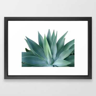 Agave blanco Framed Art Print- 15x21 - Black - Society6