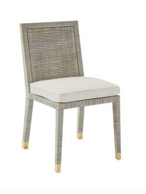 Balboa Side Chair - Mist, Chalk - Serena and Lily