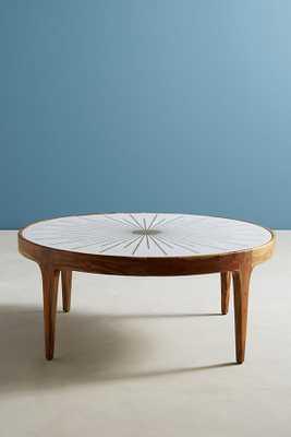 Brass Starburst Round Coffee Table - Anthropologie