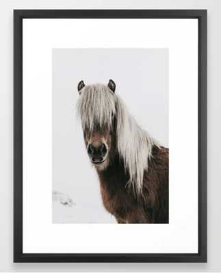 "Icelandic Horse - Pony Photo Framed Art Print - 20""x26"" - Society6"