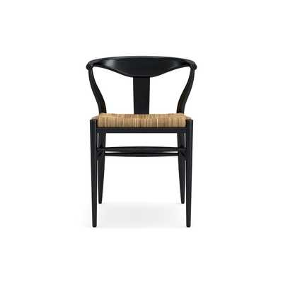 Baldwin Dining Armchair, Drifted Matte Black - Williams Sonoma
