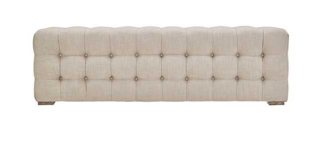 Knightsbridge Linen Fabric Tufted Bench by iNSPIRE Q Artisan - Beige - Overstock
