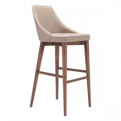 Moor Bar Chair Beige - Zuri Studios