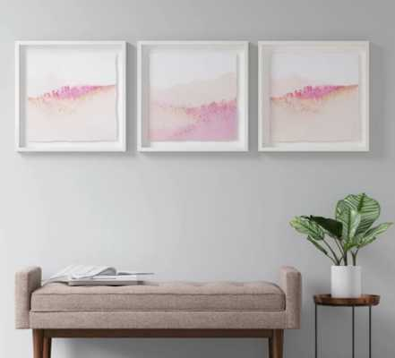 "Set of 3 20""x20"" Pink Abstract Framed Print - Project 62™ - Target"