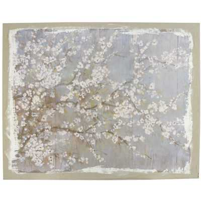 A&B Home White Cherry Blossoms Wall Art - Overstock