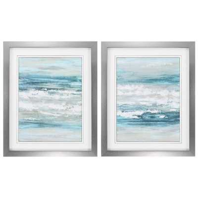 At The Shore 2 Piece Framed Painting Print Set - Birch Lane