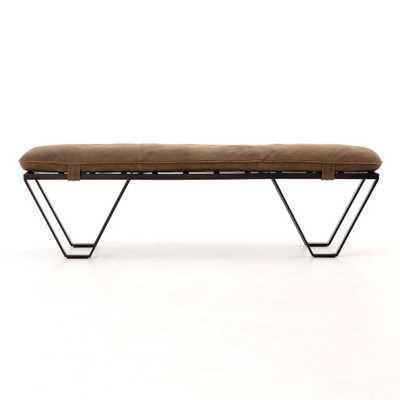 Darrow Bench in Umber Grey - Burke Decor