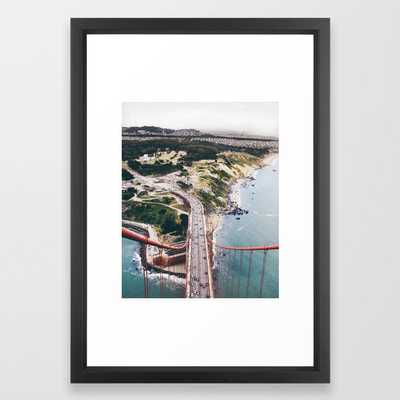 "Golden Gate Bridge San Francisco: "" I rise above"" - Vector Black - Society6"