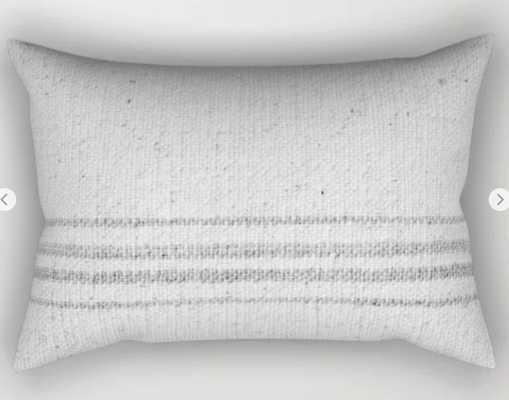 VINTAGE FARMHOUSE GRAIN SACK Rectangular Pillow - Society6