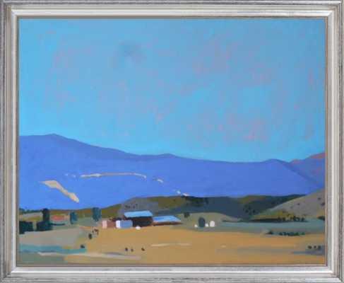 """La Veta Farm - 22.5""""x18.5"""", Silver Leaf Wood Frame - Artfully Walls"""