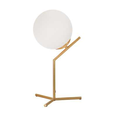 "Verrett 22"" Gold/White Table Lamp - Wayfair"