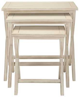Maryann Stacking Tray Tables - White - Arlo Home - Arlo Home