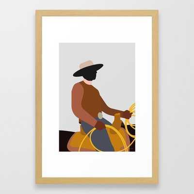 LANDMAND Framed Art Print - 15x21, conservation natural frame - Society6